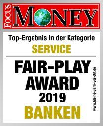 """FAIR-PLAY Award """"Banken"""""""