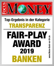 "FAIR-PLAY Award ""Banken"" – Transparenz/ Vertrauen"