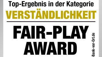 """FAIR-PLAY Award """"Banken"""" – Verständlichkeit"""